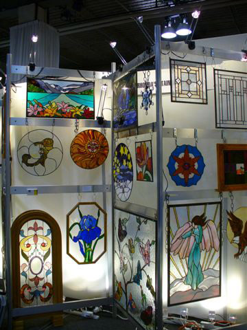 stained glass displays